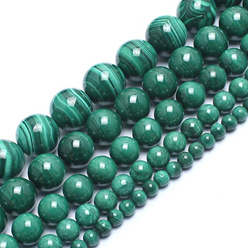 Love Beads 8mm Natural Malachite Round Stone Beads for Jewelry Making 15inch Gemstone Semi Precious