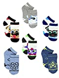 Puppy Dog Pals Boy's 6 pack Quarter Socks (2T-4T, White/Multi)