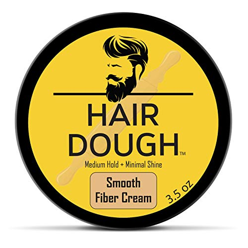 Hair Dough Mens Hair Style Smooth Fiber Cream 3.5 oz for Men with Medium Hold and Minimal Shine Hydrating Pliable Hair Care Fiber Cream To Improve Texture and Thickness For All Hair Types