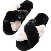 Unparalleled beauty Fashion Women Flip Flop Fur Slide Slip On Flats Shoes Winter Soft Cozy Booties