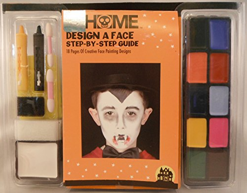 Scarecrow Makeup (Home Design A Face Washable Make Up Kit with Step By Step Design Guide)