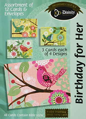 Divinity Boutique Greeting Card Assortment: Birthday for Her, Tweety Birds (21199N)
