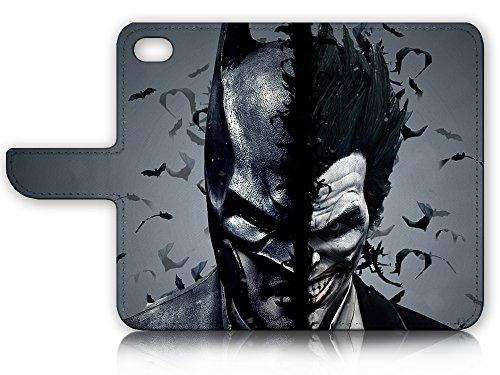 iPhone 7 Plus (5.5') Flip Wallet Case Cover & Screen Protector Bundle! A9502 Batman & Joker Super Hero at Gotham City Store