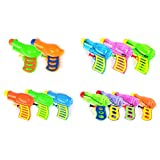 TOYMYTOY 12pcs Kids Plastic Water Squirt Gun Pistol for Watering Game (Random Color)
