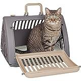 SportPet Designs Foldable Travel Cat Carrier - Front Door Plastic Collapsible Carrier
