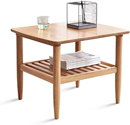 Wooden Coffee Table Space Small Compartments Bedroom Bedside Table Bay Window Laptop Table Wooden Living Room Sofa Side Table Amazon De Kuche Haushalt