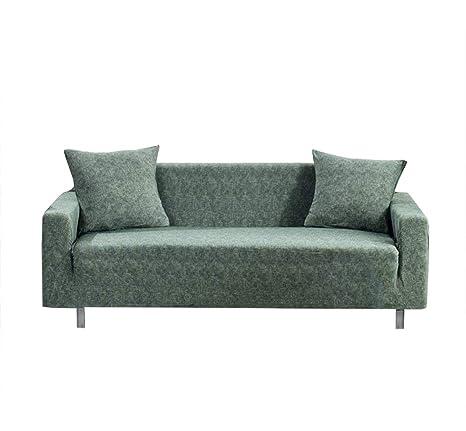 Monba Funda de sofá Lino Estilo 1 2 3 4 plazas, Funda elástica Antideslizante de poliéster para sofá, Funda para sofá o Muebles, Lavable, poliéster, ...