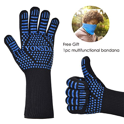 Heat Resistant BBQ Gloves-YONSDA 14