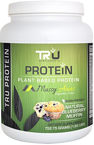 TRU Protein Blueberry Muffin – 25 Serving – Natural Plant Based Protein