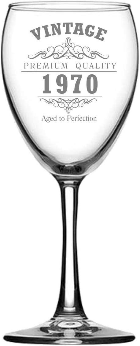 Bicchiere da vino vintage 1970 per 50/° compleanno