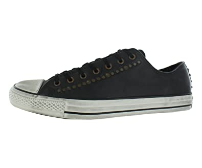 28a62b8b0c6b56 Converse Chuck Taylor All Star Ox Leather Studded Ox Black Sneaker ...