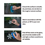 150+PCs 4 Sheets Cartoon Snowflakes Window Clings