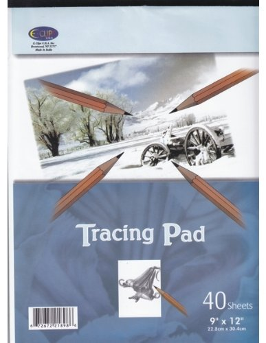 Tracing Paper Pad - 40 sheets - 9'' x 12'' 48 pcs sku# 1281354MA by DDI