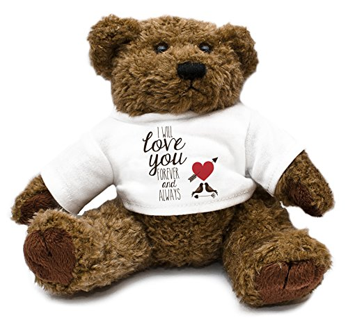 Duke Gifts Valentine's Teddy Bear I Will love You Forever And Always dove birds 50