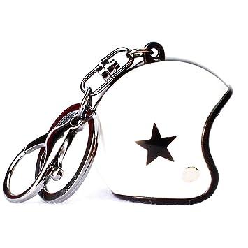 KUSTOM FACTORY Porte clé Casque Moto Blanc - Llavero Blanco ...