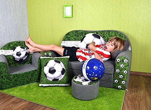 POUF ET COUSSIN Football W319/_03 LIT ENFANT FAUTEUILS CANAP/É SOFA