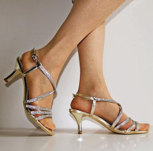 Salabobo - Zapatos con correa de tobillo mujer , color negro, talla 40