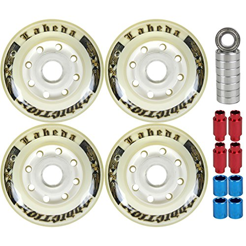 Labeda Addiction Wheels 72mm Roller Hockey 4-Pack with Micro Bearings/Spacers