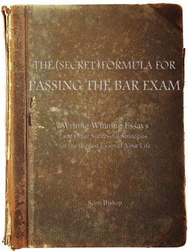 Pdf Law The (Secret) Formula for Passing the Bar Exam: Writing Winning Essays and Other Successful Strategies for the Biggest Exam of Your Life