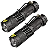 Image of Rockbirds LED Flashlight, A100 Mini Super Bright 3 Mode Tactical Flashlight, Best Tools for Hiking, Hunting, Fishing and Camping (2 Pack)