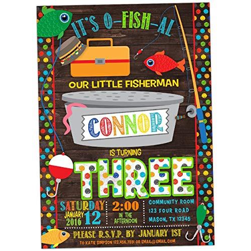 Boy Fishing Birthday Invitation Fish -