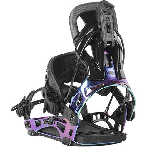 Nidecker NX2 Spectra Hybrid Snowboard Bindings (BLACK, LARGE) (All Terrain Snowboard)