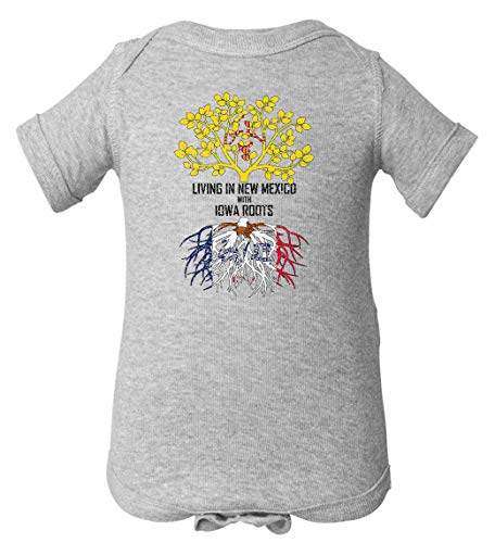 - Tenacitee Infant's Living in Mexico with Iowa Roots Bodysuit, 18 Months, Heather Grey