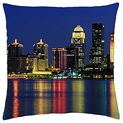 iRocket Pillow Cover - Louisville Skyline Kentucky