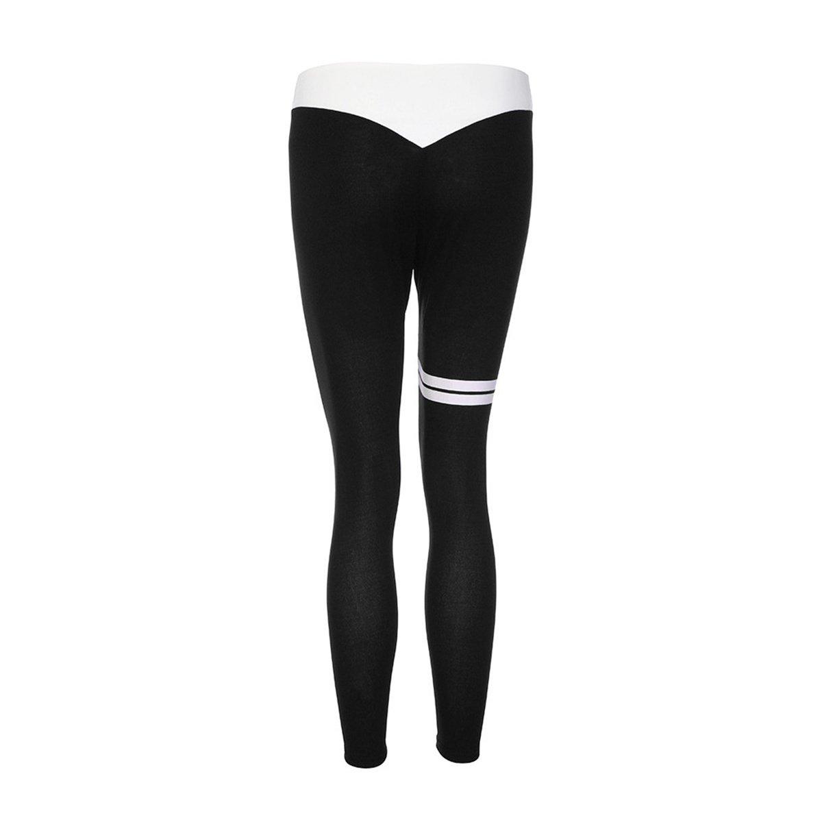 Women Elastic Skinny Yoga Fitness Pants Fitness Gym Compression Pants ECYC