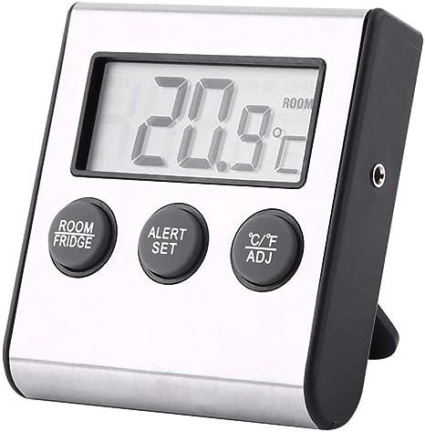 Denash Termómetro para refrigerador, LCD Digital Refrigerador ...