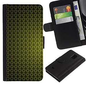 Planetar® Modelo colorido cuero carpeta tirón caso cubierta piel Holster Funda protección Para Samsung Galaxy S5 Mini / SM-G800 (Not For S5!!!) ( Texture Green Yellow )