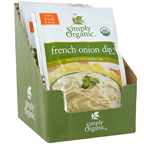 Organic French Onion Dip - Simply Organic, French Onion Dip Mix, 12 Packets, 1.10 oz (31 g) Each