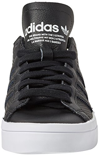 Adidas Ladies Courtvantage W Scarpe Da Corsa, Bianco Multicolour (core Black / Core Black / Ftwr White)