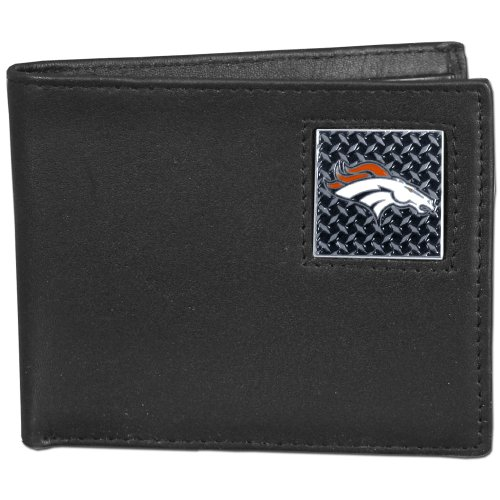 NFL Denver Broncos Leather Gridiron Bi-Fold Wallet