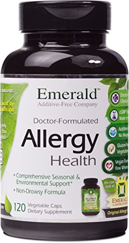 Emerald Laboratories - Allergy Health - with Quercetin, Bromelain & N-Acetyl Cysteine - 120 Vegetable Capsules