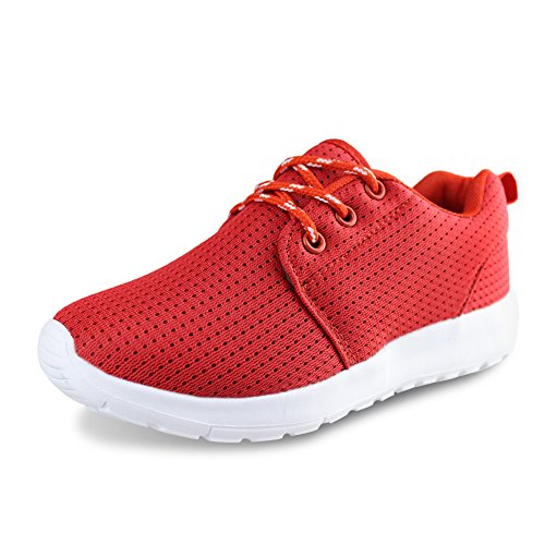 Hawkwell Breathable Lace-up Running Shoes(Toddler/Little Kid/Big Kid),Red Mesh,13 M US Little Kid
