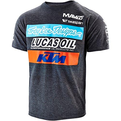 Troy Lee Designs Mens KTM Team Short-Sleeve Shirt Large Charcoal