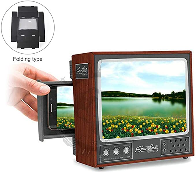 Pawaca - Lupa para teléfono móvil, estilo retro, con lupa para smartphone, 3D, HD, para iPhone, Samsung y todos los demás smartphones: Amazon.es: Hogar