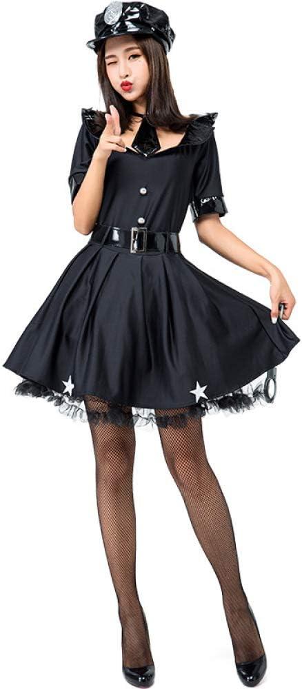 COSOER Vestido De Corbata Disfraz De Policía Femenina Ropa De ...
