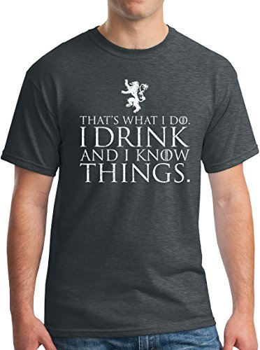 (Winterfell I Drink and I Know Things Shirt Tyrion Half Man GoT Thrones Tee DH)