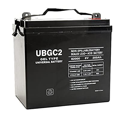 UPG Product-UPG 40703 UB-GC2 (Golf Cart) Gel, Sealed Lead Acid Battery