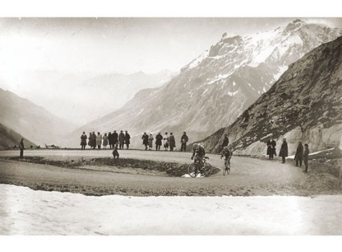 Snow on the Galibier, 1924 Presse E Sports Cycling Vintage Tour de France Poster 30x22 (Lithograph Edition Open)