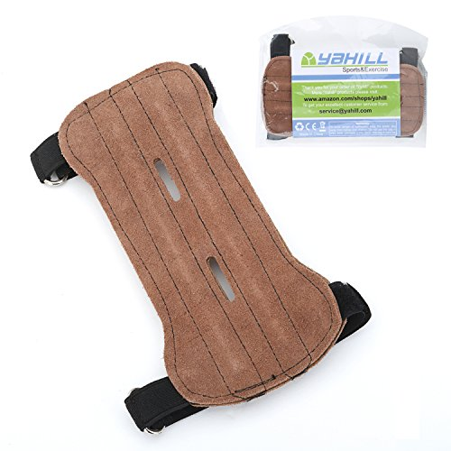Hunting And Archery (Yahill Hunting Archery Armguard Leather Arm Guard with Two)