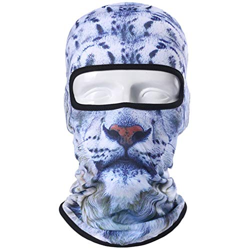 Motorcycle Full Face Mask 3D Animal Cat Dog Hats Helmet Windproof Breathable Paintball Snowboard Cycling Ski 79