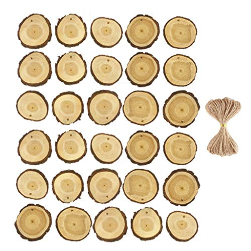 Orcbee  _Unfinished 30Pcs Wood Slices 2-2.4 Inch Wooden Circles for Arts and DIY Crafts ()