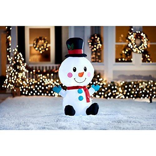 Inflatable Cute Snowman - 4ft tall - Christmas Airblown