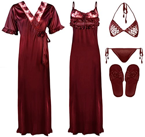 The Orange Tags - Camisón - para mujer rojo oscuro