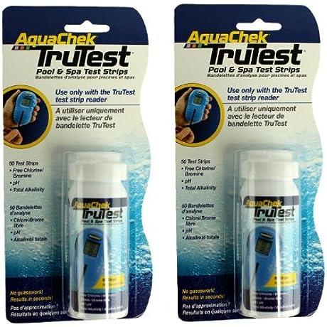 2 Aquachek 512082 TruTest Digital Reader Swimming Pool Spa Test Strips Refills