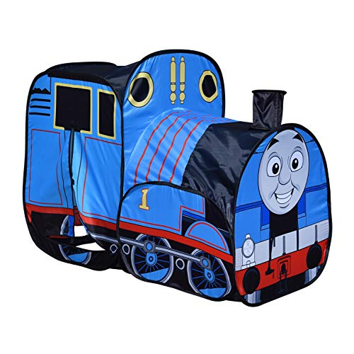 Sunny Days Entertainment Thomas & Friends Pop-Up Play Train Tent for Kids Indoor and Outdoor, Nickelodeon Thomas The Tank Engine (The Tent Thomas Train Set)