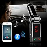 Nextechn® Performance Digital Wireless Bluetooth FM Transmitter,In-Car Bluetooth Receiver,FM Radio Stereo Adapter,Car MP3 Player with Bluetooth Handsfree calling and Dual USB Charging Port(5V 2A),Perfect for Apple,Samsung,HTC,LG